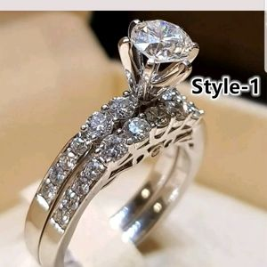New Top quality silver Plated white sapphire ring